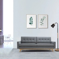U BEST Simple Apartment comfortable living room fabric Sofa,Three Seater Modern fabric apartment couch,Sectional Sofa