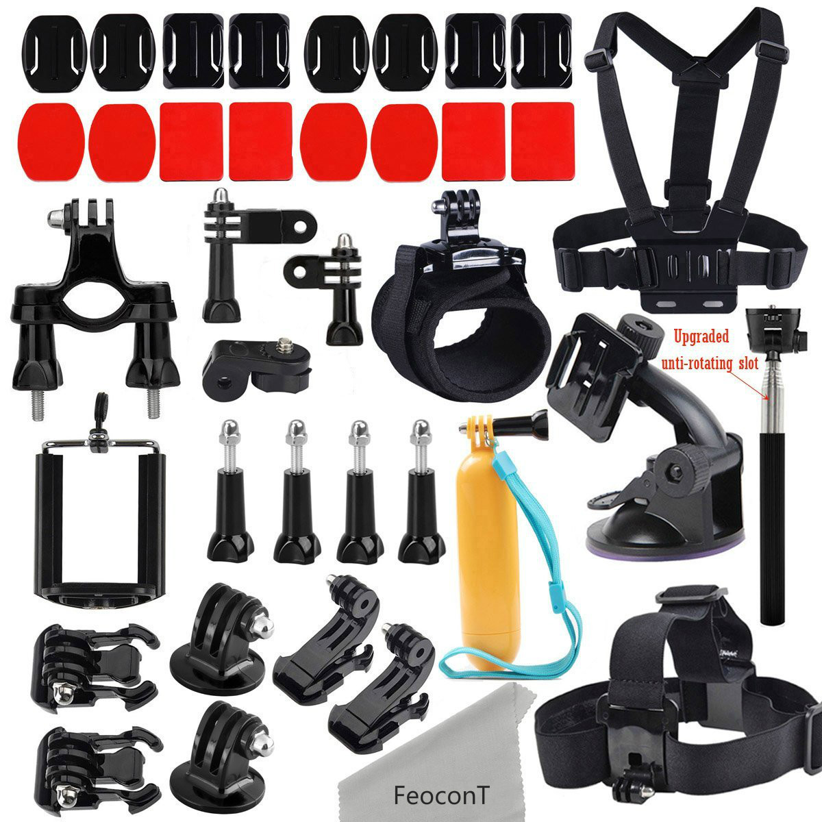 gopro accessories kit for gopro hero 5 hero 5 session hero session hero 4 3 3 2 xiaomi yi. Black Bedroom Furniture Sets. Home Design Ideas