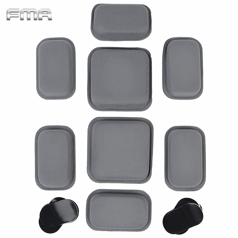 Prix pour TB768 FMA CP Style Casque De Protection Pad Tactique Paintball Wargame Haute Collant Autocollant Casque Coussin Pad Gris