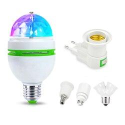 85-265 v rgb dmx conduziu a luz da fase e27 3 w rgb conduziu a lâmpada ktv barra discoteca festa lâmpada para a dança do feriado decoração bola de cristal conduziu a luz