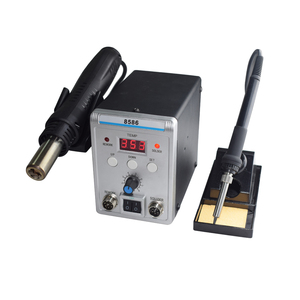 Image 2 - New Eruntop 8586 Digital Display  Electric Soldering Irons +DIY Hot Air Gun Better SMD Rework Station