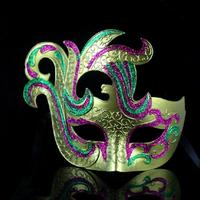Color Peacock Performance   Mask   Hand Painting Half Face Masquerade   Party     Mask   Creative Celebrity   Mask   10pcs/lot SD257