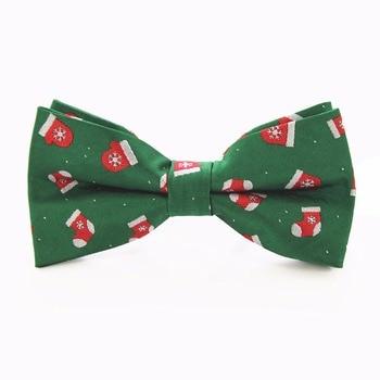 JEMYGINS New Arrivals Christmas Bow Tie For Men Gravatas Corbatas Slim of Vestidos Festival Santa Claus Bowties For Men Gifts