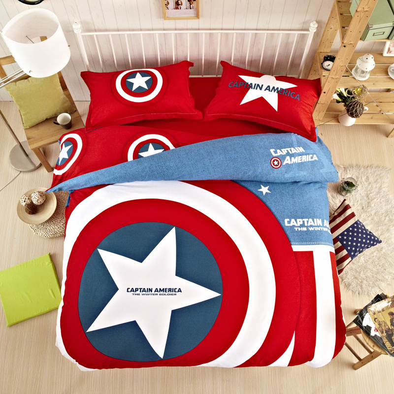 New Unique batman bedding sets home textile American hero superman captain  america bedding set 3 size twin queen king for kids-in Bedding Sets from ...
