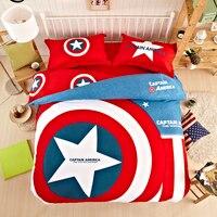 Nueva Unique American hero superman batman juegos de cama textiles para el hogar capitán américa lecho 3 tamaño doble reina rey niños