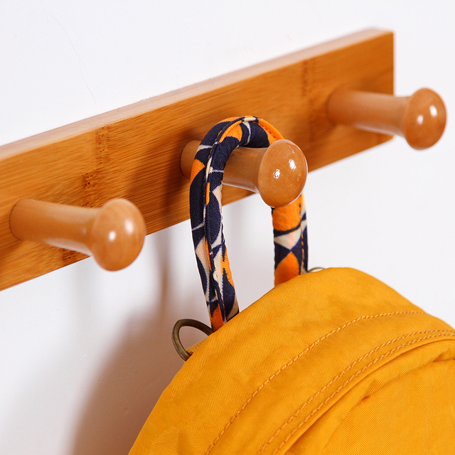 Wood Hooks Red Or Yellow Bathroom Wall Clical 3 4 6 7