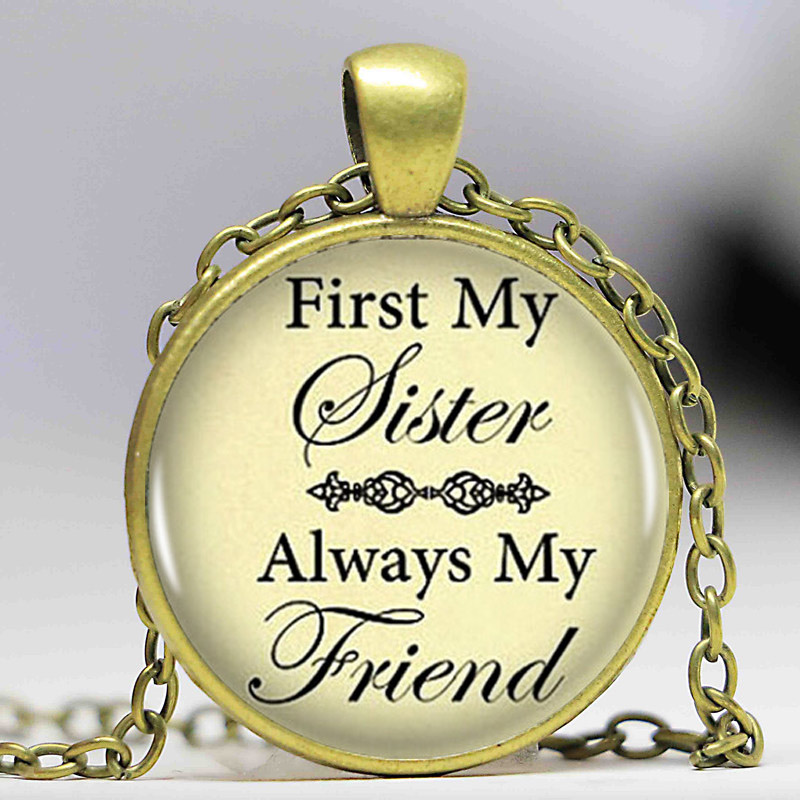 Handcrafted Sister Necklace First My Sister Always My Friend Necklace Sister's Love Jewelry Sister gift image