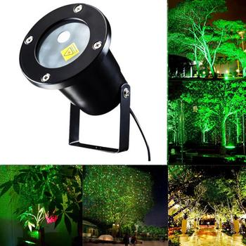 Waterproof LED Stage Light Garden Tree Moving Laser Projector Sparkling Landscape Lamp for Outdoor Decorations waterproof outdoor 10 pattern led laser landscape lights garden projector moving pattern stage light for christmas holiday