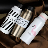 Vacuum Flasks 420ml Cartoon Thermos Bottle Coffee Cup For Girl Glassware Thermal Insulation Bottle TumblerThermos Mug