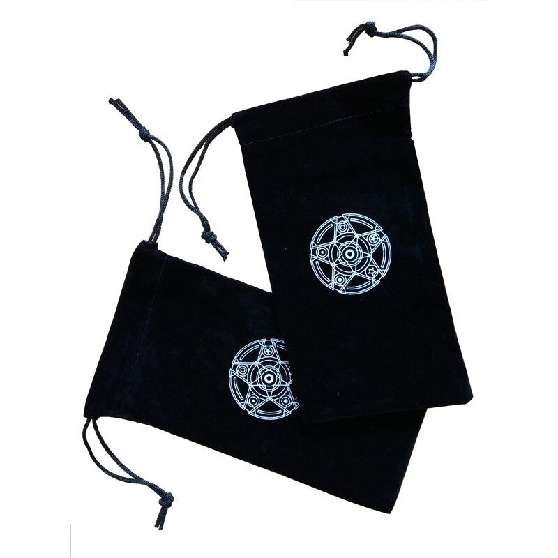 Six Awn Star Velvet Tarot Card Storage Bag Mini Tablets Bundle Pockets Pokemon Cards Yugioh Table Games Board Dixit Protection