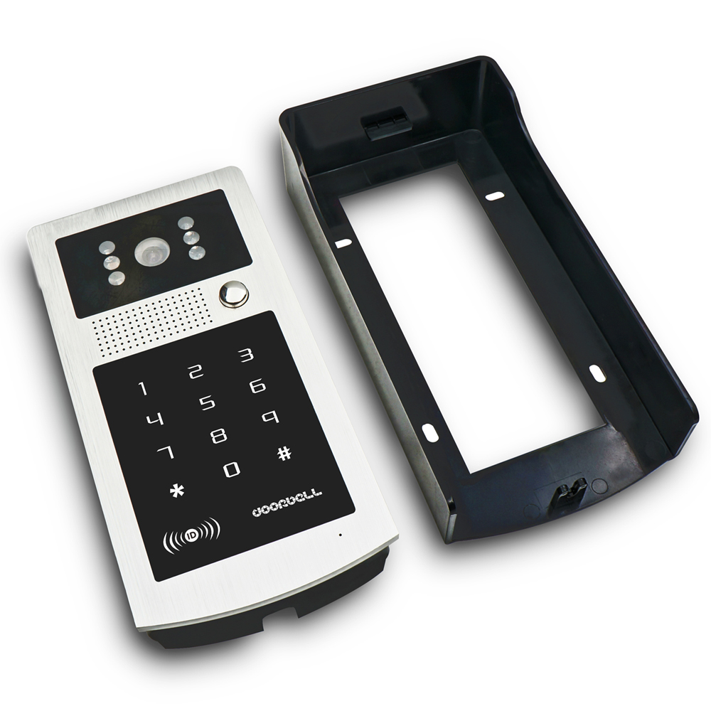 "Image 3 - MILEVIEW Wired 7"" Video Door Phone Doorbell Video Intercom Entry System + IR RFID Code Keypad Camera + Remote FREE SHIPPINGphone doorbell7"" video door phonevideo door phone -"