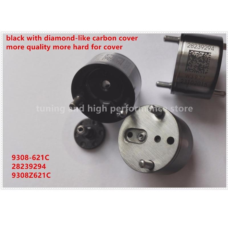 Black diesel fuel injector nozzle common rail control valve 9308z621c 28239294 9308-621C 28440421 fit for Delphi fuel injector