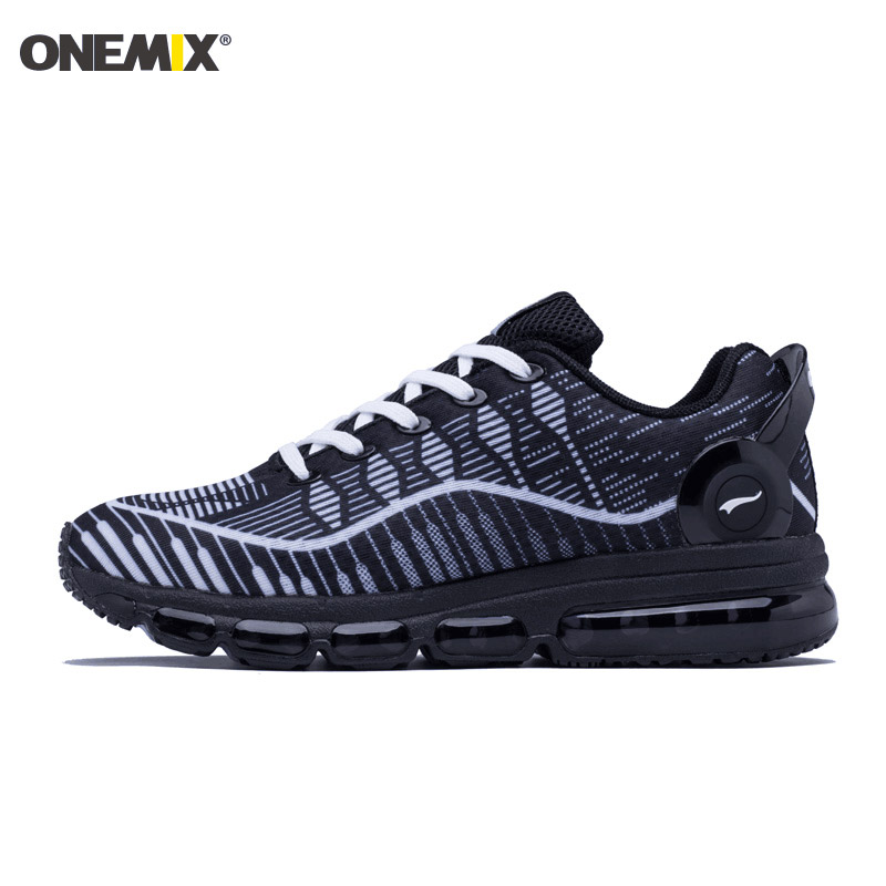 Onemix Hot Sales Music Rhythm Men Autumn&Winter Breathable Air Cusion Sneakers Running Shoes Sports Shoes Free Shipping Black onemix autumn women shoes breathable mesh comfortable wearable antislip soft outdoor sports running shoes sneakers free shipping