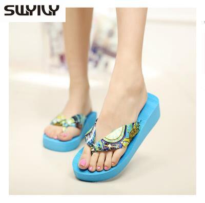 New 2017 Wedges Platform Sandals Flip Flops Ultra High Heels Slippers Women's Shoes Platform Shoes Pump Sandals Sapatos Chinelo