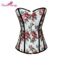 Wonder Beauty Slimming Waist Trainer Body Control Waist Cincher Shaper Underwear Floral Print 14 Plastic Bones
