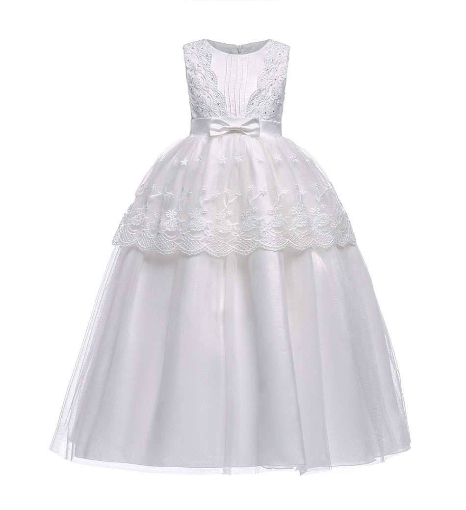 Children dress with floral pattern for girls white wedding bridesmaid dress summer dresses for girls holiday dresses for girls, Children dress with floral pattern for girls white wedding bridesmaid dress summer dresses for girls holiday dresses for girls,