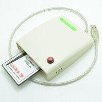 ATA PCMCIA Hafıza Kartı Adaptörü PC kart okuyucu 68PIN CardBus USB 2.0 Adaptörü ile anahtarı ve muhafaza