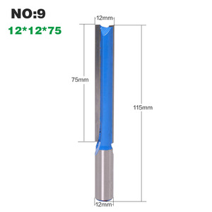 Image 5 - 1pc 12mm Shank Straight Router Bits Woodworking Carving 2 Flute Wood Engraving Milling Cutter Carbide CNC Bits
