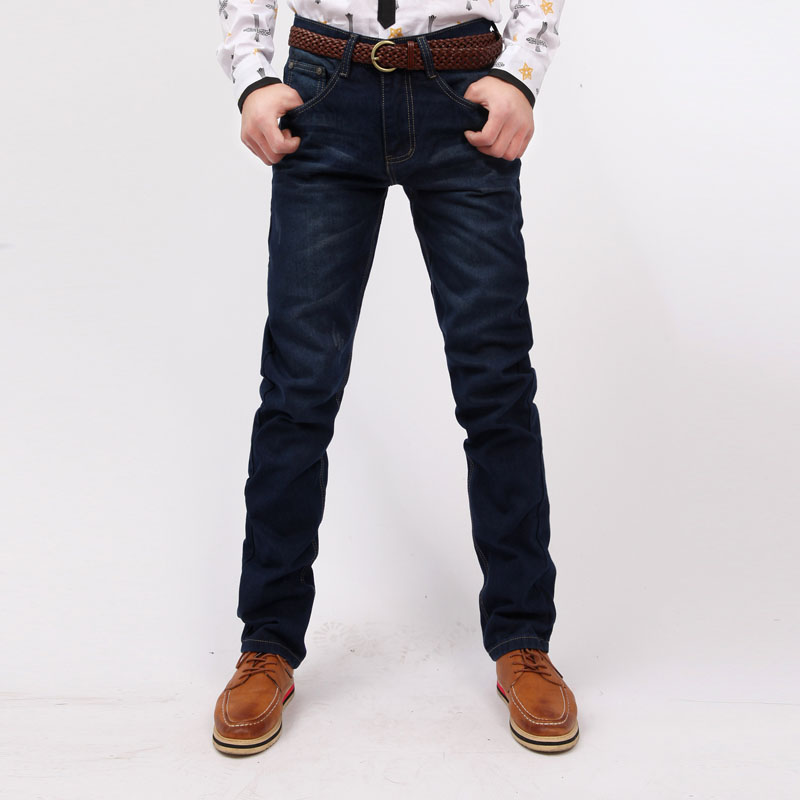 HOT Free Shipping dark blue jeans men 2015 mens distressed jeans male pants casual trousers dsq