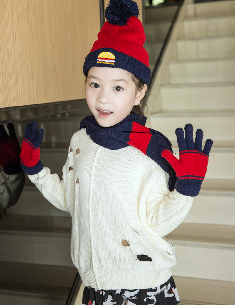 12 Sets Funny Colorful Scarf Hat Glove Sets Kid Boys and Girls Winter Gloves and Hats Kids Beanies Winter Hats Hot Sale
