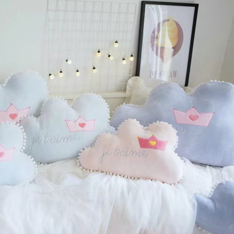 Lovely Romantic Letter Cloud Shape Plush Pillow Children's Room Decoration Toy Kids Baby Doll Necessary To Take Pictures Cushion