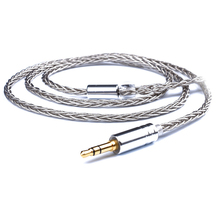 3.5mm 8 Core DIY A2DC Cable for ATH E40 LS70 LS50 LS200IS E70 ATH CKR100 CKS100is Earphone Silver Plate Cables for IPhone