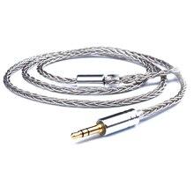 3.5mm 8 Core DIY A2DC Kabel voor ATH E40 LS70 LS50 LS200IS E70 ATH CKR100 CKS100is Oortelefoon Zilveren Plaat Kabels voor IPhone