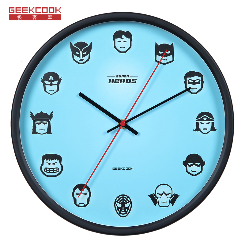 Geekcook League Of Legends Wall Clock Modern Design Kids Bedroom Mute Watch Home Decor