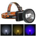 5W 2 Mode LED Headlamp Headlight 800LM Waterproof Outdoor Head Lamp Yellow / Blue / White Light for Camping Cycling Climbing