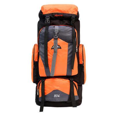 Chu JJ 80L Large Capacity Men Backpacks Casual Nylon Unisex Backpack Women Men's Travel Bag Mountaineering out door Backpack new arrival men and women outdoor mountaineering backpack casual travel backpack large capacity backpack 70l
