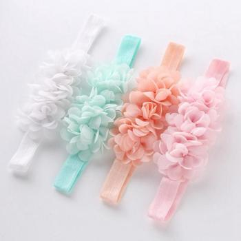 Baby Headband Flower Girls Pink Ribbon Hair Bands for Kids Turban Newborn Accessories 4