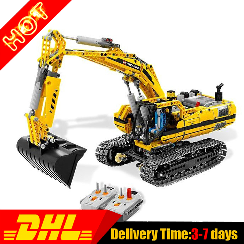 2017 LEPIN 20007 1123Pcs Technic Series Motorized Excavator Model Building Kits Puzze Blocks Bricks Compatible Toy 8043 диск отрезной алмазный турбо 125х22 2mm 20007 ottom 125x22 2mm