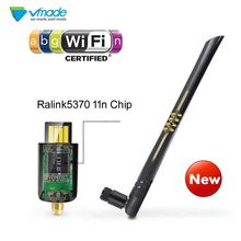 Vmade беспроводной Mini-USB wifi Ralink 5370 2dBi беспроводной адаптер Wi-Fi Соединительная плата локальной компьютерной сети программного ключа-заглушки д...(China)