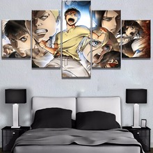 Frame 5 Piece Canvas Art Attack on Titan Anime Cuadros Decoracion Paintings on Canvas Wall Art for Home Decorations Wall Decor focal on wall frame iw 1003 rough