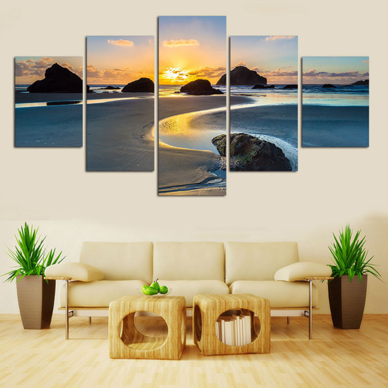 Natural Landscape Framed art Modern Home Wall Decor Canvas Picture ...