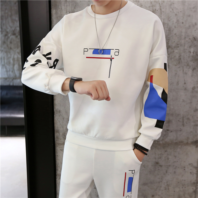 Spring And Autumn Sweater Man Joker Motion Suit Male Student Leisure Loose Coat Tide Clothes Tracksuit Three Quarter