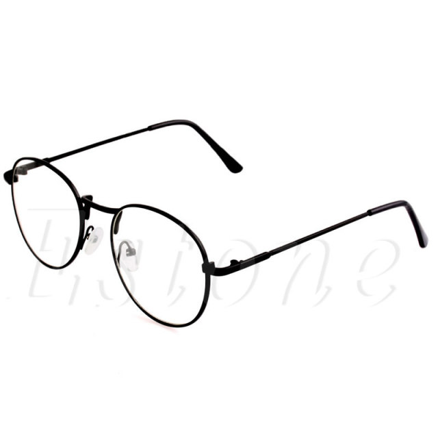 New Comfy Retro Ultra Light Women Men Round Clear Lens Glasses Nerd Spectacles Eyeglass Metal Frame