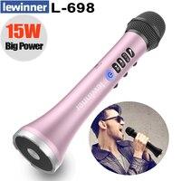 Lewinner L 698 professional 15W portable USB wireless Bluetooth karaoke microphone speaker with Dynamic microphone