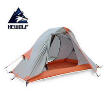 1-2 person classical camping tent double layer aluminum pole anti typhoon four seasons Alpine coated silicone