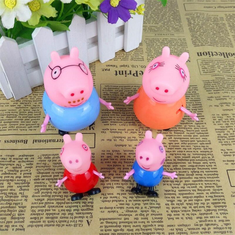 Original Peppa Pig George Dad Mom Family Pack Action Figure Pelucia Toys For Children Gifts