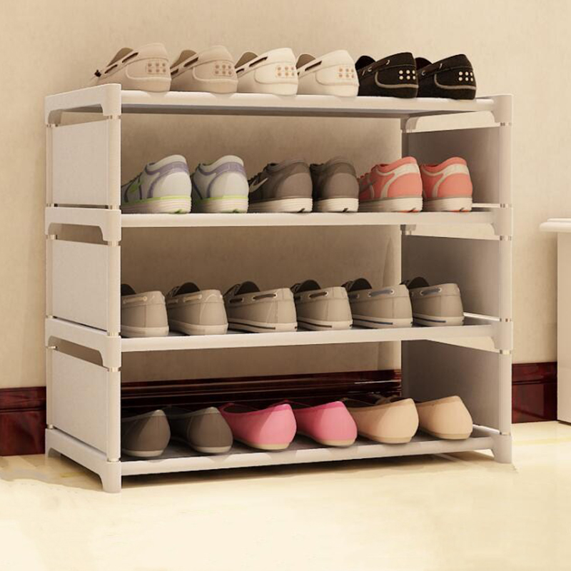 Dormitory Small space storage Shoe Rack Easy Assembled Plastic Multiple layers Shoes Shelf Storage Organizer Stand Holder multiple layers shoe rack plastic parts steel pipe shoes shelf easy assembled storage organizer stand holder space saving