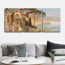 Village House Scenery Wall Picture Poster Print Canvas Painting Calligraphy Decor for Living Room Bedroom Home Frameless