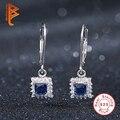 Oceano Azul Brincos de luxo Sólida 925 Prata Esterlina Brincos Moda Jóias para As Mulheres