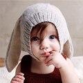 Orejas de conejo bebé de punto sombrero infantil del niño del invierno cap para los niños 0-3 años de muchacha boy accesorios accesorios de fotografía