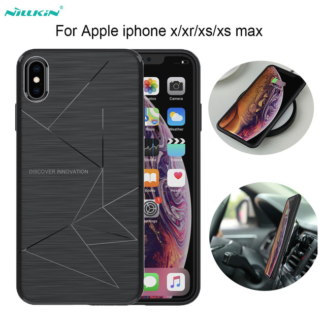 For iphone xs max case Funda iphone xs casing Nillkin Magic Case For iphone 8/8 Plus Qi Wireless Charger Receiver Cover case