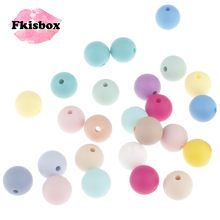 Fkisbox Round 12mm 50pcs Silicone Beads Baby Teether Infant Teething Necklace Jewelry Making Baby Pacifier Chain DIY Bpa Free(China)