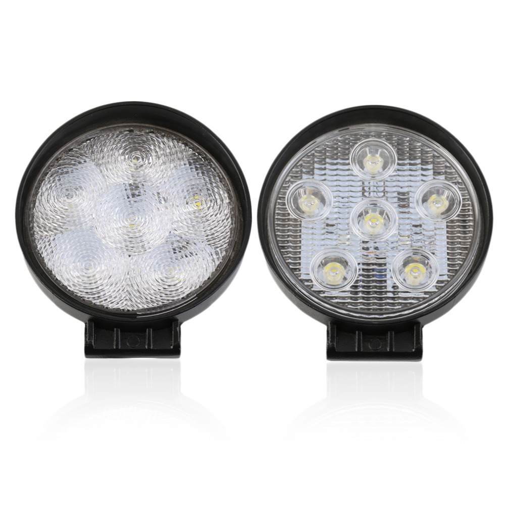 18W 6 LEDs Round 12V Spot/Flood Beam Work Lamp Light For Offroad Vehicles waterproof 24w 12v 8 leds round flood beam tractor work lamp light for offroads trailer boat hot selling