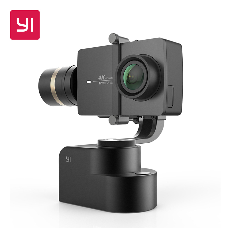 YI Handheld Gimbal Set with YI 4K Camera and Selfie stick 3-Axis Pan/Tilt/Roll Manual Adjustment 320 degree Compact & Light mennon gc 4in1 photography reference grey card set for manual white balance adjustment