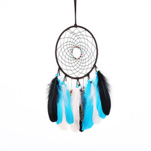 Dreamer Handmade Indian Dreamcatcher Wall Hanging Decoration Home Decor White Simple Feather Accessories