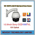 4-Inch 10x Mini IR 30m PTZ High Speed Dome Camera with Ceilling or Wall Bracket 1/2.8 Inch Sony CMOS 1000TVL